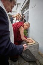 Jeho Svatost 14. dalajlama navštívil ve Voršilské ulici Dagm